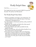 Creating a weekly budget in the form of a game