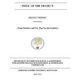 Creating a well structured project report