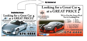 Creating an Ad for a Car Company using Publisher
