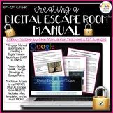 Escape Room Manual, Digital, Google Apps