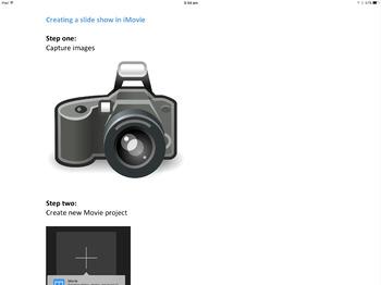 Creating an iMovie slideshow