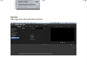 Creating an iMovie slideshow
