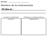 Creating an instrument- spanish editable powerpoint
