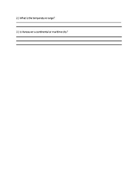 Creating and Analyzing Climate Graph Exercise Booklet