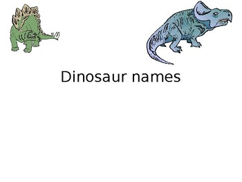 Creating and Naming Dinosaurs