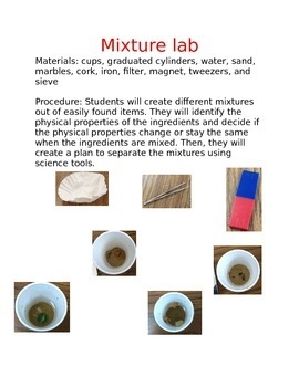 Creating and Separating Mixtures