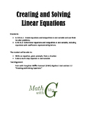 Creating and Solving Linear Equations