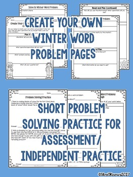 Winter Word Problems Pack