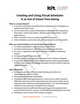 Creating and Using Visual Schedules - including Template