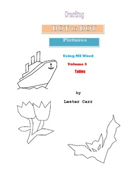 Creating dot to dot Animal Pictures in MS Word Vol. 4