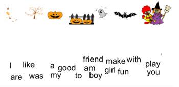 Creating sentences