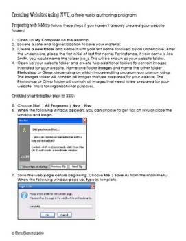 Creating websites using NVU