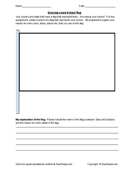 Creating your own School Flag Assignment