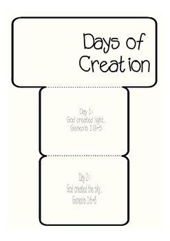 Days of Creation Accordion Freebie
