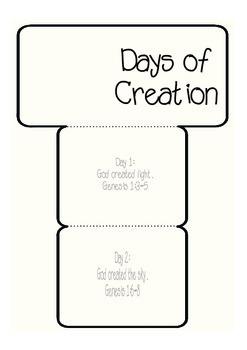 Days of Creation Accordion Freebie