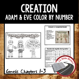 Creation Adam and Eve (Bible Genesis) Color By Number