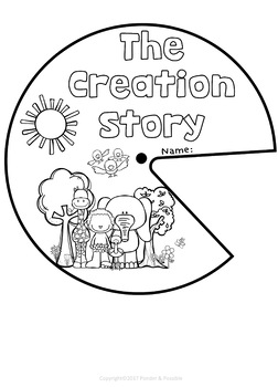 Creation Bible Story Spinner Templates By Ponder And