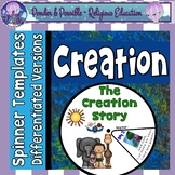 Days of Creation Bible Story: Spinner Templates