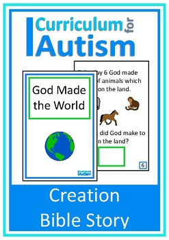 Creation Bible Story Interactive Adapted Book, Autism, Spe