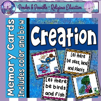 Creation - Bible Story - Memory Cards