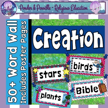 Creation - Bible Story - Word Wall
