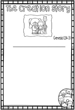 Creation - Bible Story - Writing Templates (Differentiated Versions)