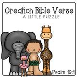 Creation Bible Verse Puzzle