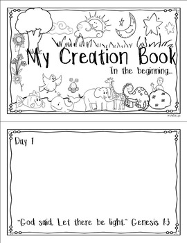 Creation Booklet Printable Craft