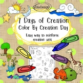 Creation Color By Number - Color By Creation Day - 7 Days of Creation