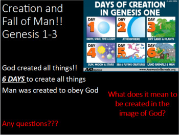 Creation + Genesis introduction CH 1-10