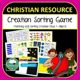 Creation Matching Sorting Game Christian Bible Education 7 Days of Creation