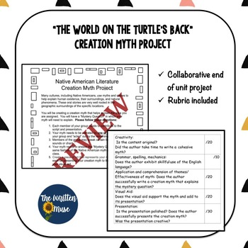 """Creation Myth Project / """"The World on the Turtle's Back"""""""