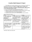 Creation Myth Research Project Handout