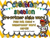 Creation Station Pre Primer Sight Word Play Doh Mats And Watercolor Word Cards!