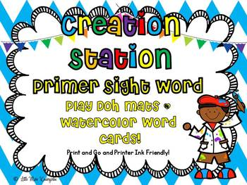 Creation Station Primer Sight Word Play Doh Mats And Watercolor Cards!