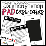 Creation Station iPad Task Cards {Back to School}
