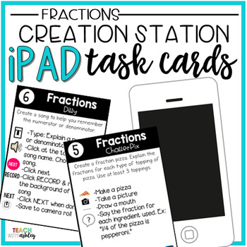 Creation Station iPad Task Cards {Fractions}