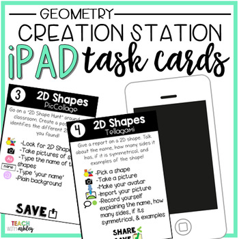Creation Station iPad Task Cards Geometry