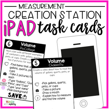 Creation Station iPad Task Cards Measurement