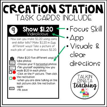 Creation Station iPad Task Cards {Money}