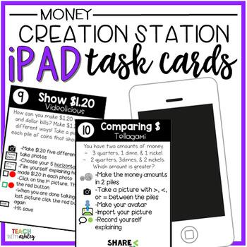 Creation Station iPad Task Cards Money