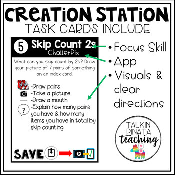 Creation Station iPad Task Cards {Number Sense}