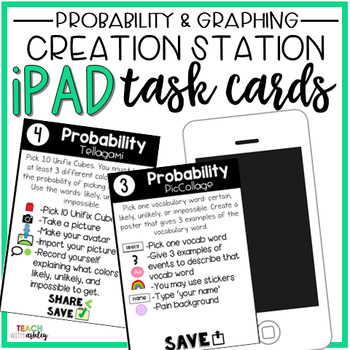 Creation Station Task Cards {Probability & Graphing}