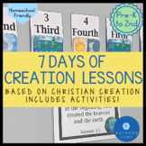Creation Story Lessons Bible Activities for 7 Days of Creation