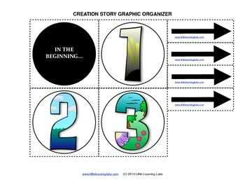 Creation Story Graphic Organizer Flow Chart Set Religious