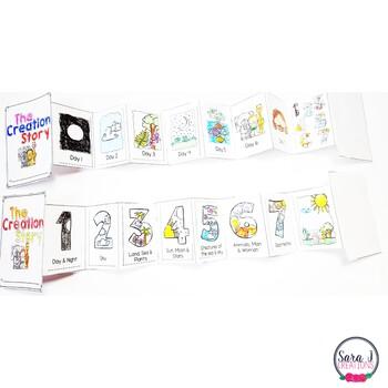 creation story mini book by sara j creations teachers pay teachers