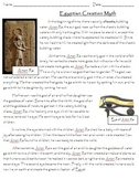 Creation Story of Ancient Egypt - Sequencing and Transition Words
