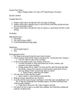 Creation and Evolution 4 part lesson plan Sunday School
