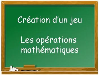 Création d'un jeu en mathématique