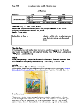 Workshop Rotation: Creation lesson plans for storytelling, art and ipad